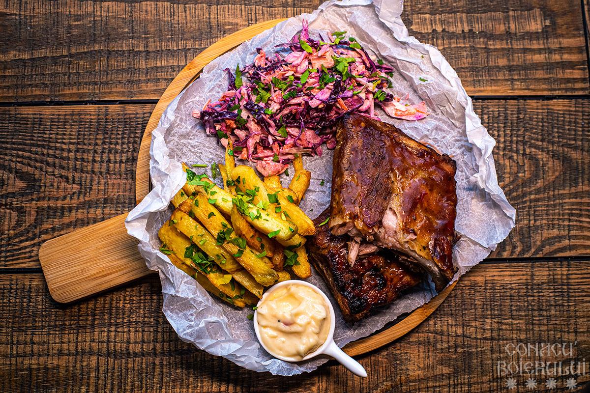 Restaurant Conacu' Boierului, Ponoarele, Mehedinti - Coaste de porc